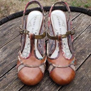 NWT Bobbi Blu Leather Lola Heels Pin Up Vintage
